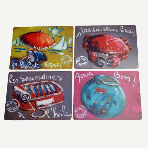 Set de 4 sets de table humour plattier (r14895)